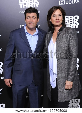 "LOS ANGELES - DEC 19:  Kyle Chandler & wife Kathryn arrives to ""Zero Dark Thirty"" LA Premiere  on December 19,2012 in Hollywood, CA"