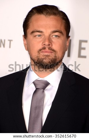 LOS ANGELES - DEC 16:  Leonardo DiCaprio at the The Revenant Los Angeles Premiere at the TCL Chinese Theater on December 16, 2015 in Los Angeles, CA - stock photo