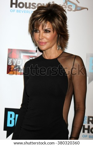 LOS ANGELES - DEC 3:  Lisa Rinna at The Real Housewives of Beverly Hills Premiere Red Carpet 2015 at the W Hotel Hollywood on December 3, 2015 in Los Angeles, CA - stock photo