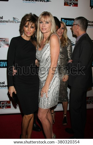 LOS ANGELES - DEC 3:  Lisa Rinna, Eileen Davidson at The Real Housewives of Beverly Hills Premiere Red Carpet 2015 at the W Hotel Hollywood on December 3, 2015 in Los Angeles, CA - stock photo