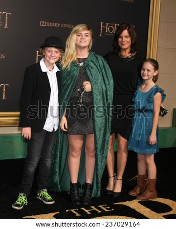 "LOS ANGELES - DEC 9:  Marcia Gay Harden at the ""The Hobbit: The Battle of the Five Armies"" Los Angeles Premiere at the Dolby Theater on December 9, 2014 in Los Angeles, CA - stock photo"