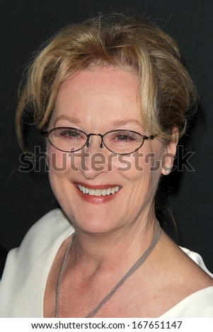 "LOS ANGELES - DEC 16:  Meryl Streep at the ""August: Osage County"" LA Premiere at Regal 14 Theaters on Dec 16, 2013 in Los Angeles, CA"