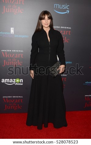 "LOS ANGELES - DEC 1:  Monica Bellucci at the ""Mozart In The Jungle"" Special Screening and Concert at The Grove on December 1, 2016 in Los Angeles, CA"