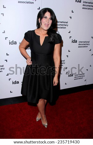 LOS ANGELES - DEC 5:  Monica Lewinsky at the 2014 IDA Documentary Awards at the Paramount Studios on December 5, 2014 in Los Angeles, CA - stock photo