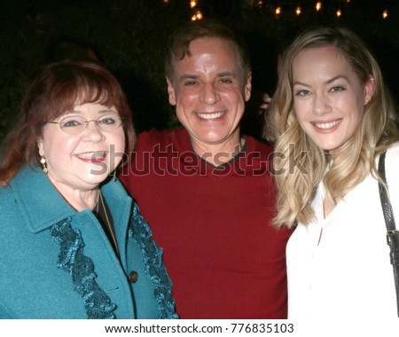 LOS ANGELES - DEC 16:  Patrika Darbo, Christian LeBlanc, Annika Noelle at the Heather Tom, James Achor, Zane Achor Christmas Party at their private residence on December 16, 2017 in Glendale, CA