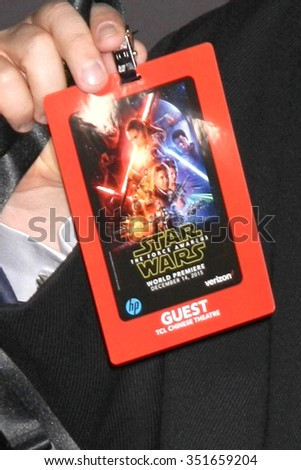 LOS ANGELES - DEC 14:  Patton Oswalt at the Star Wars: The Force Awakens World Premiere at the Hollywood & Highland on December 14, 2015 in Los Angeles, CA - stock photo