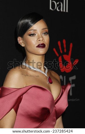 LOS ANGELES - DEC 11:  Rihanna at the Rihanna's First Annual Diamond Ball at the The Vineyard on December 11, 2014 in Beverly Hills, CA - stock photo