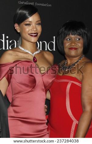 LOS ANGELES - DEC 11:  Rihanna, Monica Braithwaite at the Rihanna's First Annual Diamond Ball at the The Vineyard on December 11, 2014 in Beverly Hills, CA - stock photo