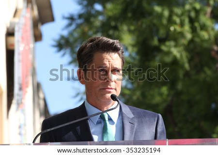 LOS ANGELES - DEC 8:  Rob Lowe at the Rob Lowe Star on the Hollywood Walk of Fame at the Hollywood Blvd on December 8, 2015 in Los Angeles, CA - stock photo