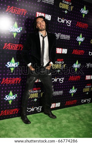 LOS ANGELES - DEC 4:  Russell Brand arrives at Variety's Power of Comedy 2010 at Club Nokia on December 4, 2010 in Los Angeles, CA.