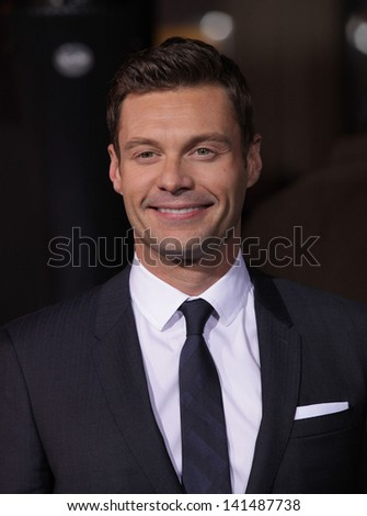 """LOS ANGELES - DEC 05:  RYAN SEACREST arriving to """"New Year's Eve"""" World Premiere  on December 5, 2011 in Hollywood, CA - stock photo"""