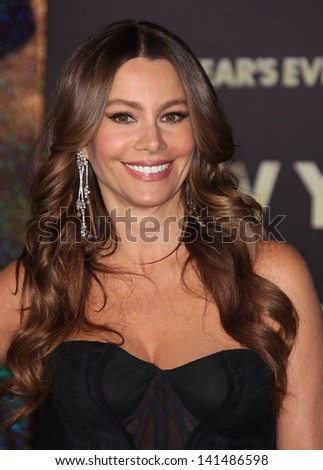 "LOS ANGELES - DEC 05:  SOFIA VERGARA arriving to ""New Year's Eve"" World Premiere  on December 5, 2011 in Hollywood, CA - stock photo"