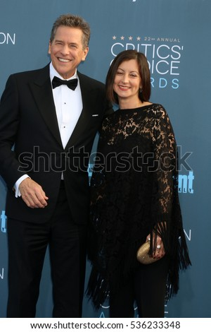 LOS ANGELES - DEC 11:  Tim Matheson, Meghan Murphy at the 22nd Annual Critics' Choice Awards at Barker Hanger on December 11, 2016 in Santa Monica, CA
