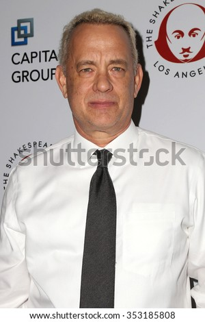 LOS ANGELES - DEC 8:  Tom Hanks at the 25th Annual Simply Shakespeare at the Broad Stage on December 8, 2015 in Santa Monica, CA - stock photo