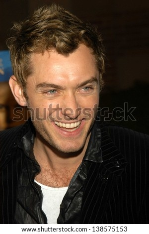 "LOS ANGELES - DECEMBER 08: Jude Law at a celebration of the words and music of ""Cold Mountain"" at Royce Hall, UCLA on December 08, 2003 in Los Angeles, CA."