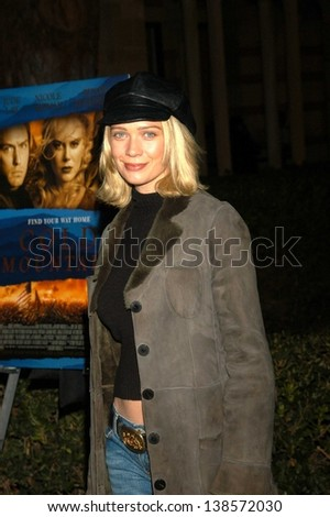"LOS ANGELES - DECEMBER 08: Laurie Holden at a celebration of the words and music of ""Cold Mountain"" at Royce Hall, UCLA on December 08, 2003 in Los Angeles, CA."