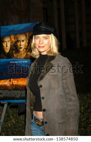 "LOS ANGELES - DECEMBER 08: Laurie Holden Dianne Copeland At a celebration of the words and music of ""Cold Mountain"" at Royce Hall, UCLA on December 08, 2003 in Los Angeles, CA."
