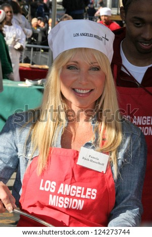 LOS ANGELES - DECEMBER 22: Pamela Bach-Hasselhoff at the Annual Los Angeles Mission Christmas Event December 22, 2006 in Los Angeles, CA.