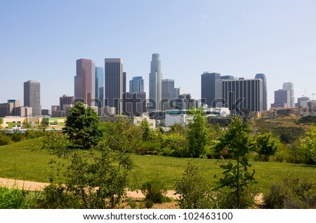 Los Angeles downtown - stock photo