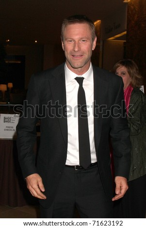 LOS ANGELES - FEB 19:  Aaron Eckhart arrives at the 61st ACE Eddie Awards at Beverly Hilton Hotel on February 19, 2011 in Beverly Hills, CA