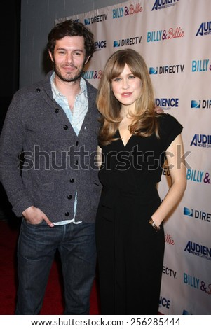 "LOS ANGELES - FEB 25:  Adam Brody, Lisa Joyce at the ""Billy & Billie"" Premiere Screening of DirecTV's Series at  The Lot on February 25, 2015 in Los Angeles, CA - stock photo"