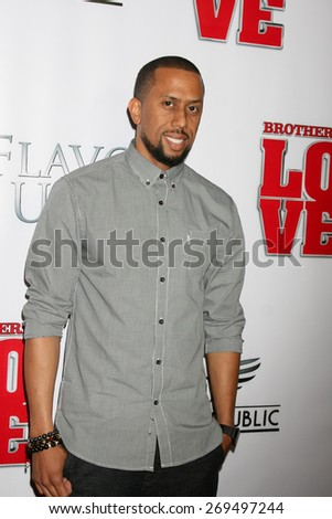 "LOS ANGELES - FEB 13:  Affion Crockett at the ""Brotherly Love"" LA Premiere at the Silver Screen Theater at the Pacific Design Center on April 13, 2015 in West Hollywood, CA - stock photo"