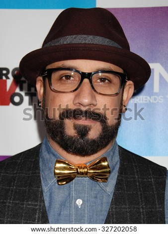 LOS ANGELES - FEB 8 - AJ Mclean arrives at the 16th Annual Friends N Family Pre Grammy Party on February 8, 2013 in Los Angeles, CA              - stock photo