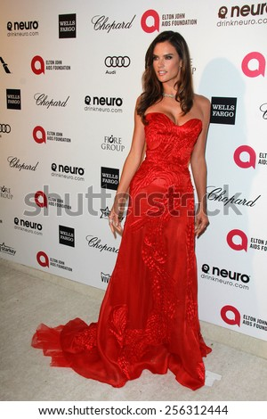 LOS ANGELES - FEB 22:  Alessandra Ambrosio at the Elton John Oscar Party 2015 at the City Of West Hollywood Park on February 22, 2015 in West Hollywood, CA - stock photo
