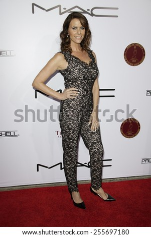 LOS ANGELES - FEB 14: Amy Landecker at the Make-Up Artists & Hair Stylists Guild Awards at the Paramount Theater on February 14, 2015 in Los Angeles, CA - stock photo