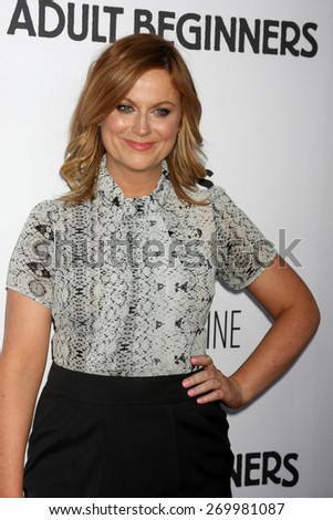"LOS ANGELES - FEB 15:  Amy Poehler at the ""Adult Beginners"" Los Angeles Premiere at the ArcLight Hollywood Theaters on April 15, 2015 in Los Angeles, CA"