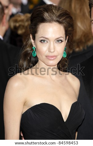 LOS ANGELES - FEB 22: Angelina Jolie at the 81st Annual Academy Awards - Oscar Arrivals in Los Angeles, California on February 22, 2009 - stock photo