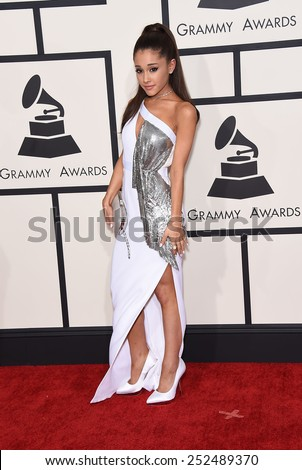 LOS ANGELES - FEB 08:  Ariana Grande arrives to the Grammy Awards 2015  on February 8, 2015 in Los Angeles, CA                 - stock photo