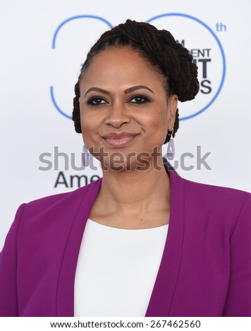 LOS ANGELES - FEB 21:  Ava DuVernay arrives to the 2015 Film Independent Spirit Awards  on February 21, 2015 in Santa Monica, CA                 - stock photo