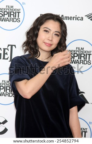 LOS ANGELES - FEB 21:  Ayako Fujitani at the 30th Film Independent Spirit Awards at a tent on the beach on February 21, 2015 in Santa Monica, CA - stock photo