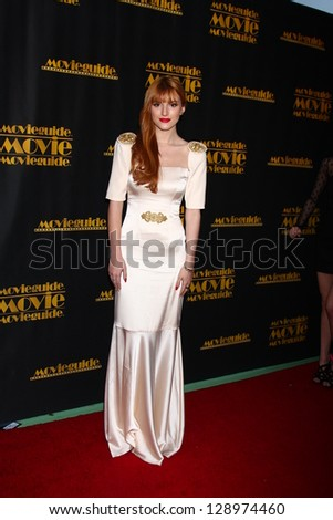 LOS ANGELES - FEB 15:  Bella Thorne arrives at the 2013 MovieGuide Awards at the Universal Hilton Hotel on February 15, 2013 in Los Angeles, CA - stock photo