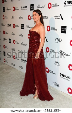 LOS ANGELES - FEB 22: bellamy young at the Elton John Oscar Party 2015 at the City Of West Hollywood Park on February 22, 2015 in West Hollywood, CA - stock photo
