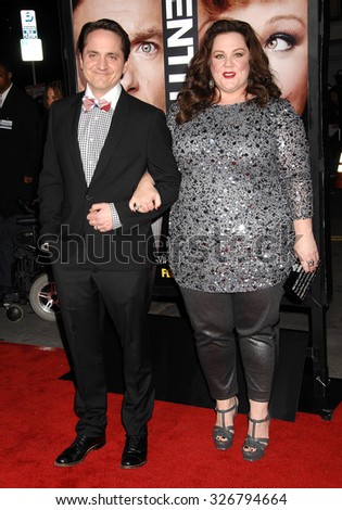 LOS ANGELES - FEB 4 - Ben Falcone and Melissa McCarthy arrives at the Identity Thief World Premiere on February 4, 2013 in Los Angeles, CA              - stock photo