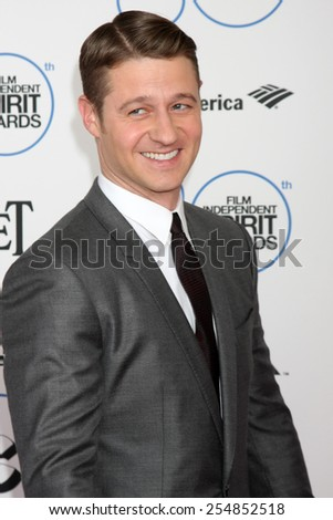 LOS ANGELES - FEB 21:  Benjamin McKenzie at the 30th Film Independent Spirit Awards at a tent on the beach on February 21, 2015 in Santa Monica, CA - stock photo