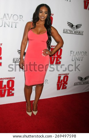 "LOS ANGELES - FEB 13:  Brandi Maxiell at the ""Brotherly Love"" LA Premiere at the Silver Screen Theater at the Pacific Design Center on April 13, 2015 in West Hollywood, CA - stock photo"