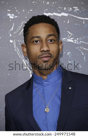 LOS ANGELES - FEB 2: Brandon T Jackson at the 'Jupiter Ascending' Los Angeles Premiere at TCL Chinese Theater on February 2, 2015 in Hollywood, Los Angeles, California - stock photo