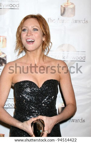 LOS ANGELES - FEB 4:  Brittany Snow arrives at the 39th Annual Annie Awards at Royce Hall at UCLA on February 4, 2012 in Westwood, CA