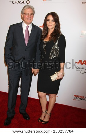 LOS ANGELES - FEB 2:  Bruce Boxleitner, Verena King at the AARP 14th Annual Movies For Grownups Awards Gala at a Beverly Wilshire Hotel on February 2, 2015 in Beverly Hills, CA - stock photo