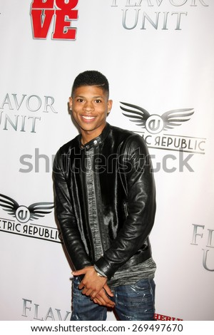 """LOS ANGELES - FEB 13:  Bryshere Y Gray at the """"Brotherly Love"""" LA Premiere at the Silver Screen Theater at the Pacific Design Center on April 13, 2015 in West Hollywood, CA - stock photo"""