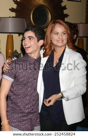 "LOS ANGELES - FEB 12:  Cameron Boyce, Debby Ryan at the Disney Channel's ""Jessie"" Celebrates 100 Episodes at a Hollywood Center Studios on February 12, 2015 in Los Angeles, CA - stock photo"