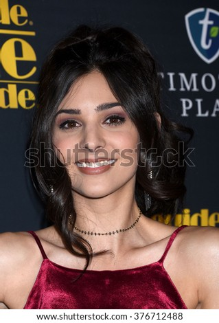 LOS ANGELES - FEB 5 - Camila Banus arrives at the 24th Annual MovieGuide Awards on February 5, 2016 in Los Angeles, CA              - stock photo