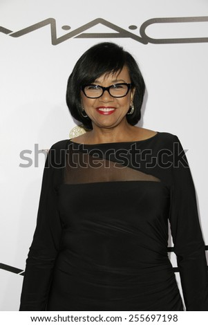 LOS ANGELES - FEB 14: Cheryl Boone Isaacs at the Make-Up Artists & Hair Stylists Guild Awards at the Paramount Theater on February 14, 2015 in Los Angeles, CA - stock photo