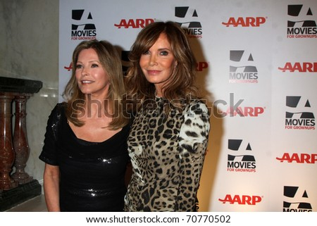 "LOS ANGELES - FEB 7:  Cheryl Ladd, Jaclyn Smith arrives at the 2011 AARP ""Movies for Grownups"" Gala  at Regent Beverly Wilshire Hotel on February 7, 2011 in Beverly Hills, CA"