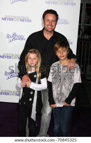 "LOS ANGELES - FEB 8:  Chris Harrison arrives at the ""Never Say Never"" Premiere at Nokia Theater  on February 8, 2011 in Los Angeles, CA"