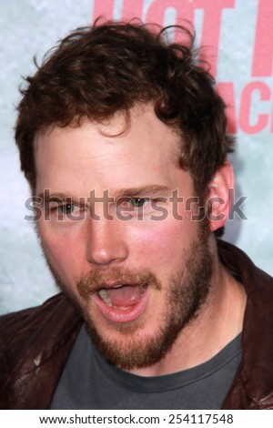 "LOS ANGELES - FEB 18:  Chris Pratt at the ""Hot Tub Time Machine 2"" Los Angeles Premiere at a Village Theater on February 18, 2015 in Westwood, CA - stock photo"
