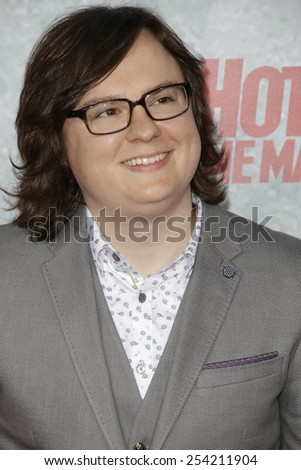 LOS ANGELES - FEB 18: Clark Duke at the 'Hot Tub Time Machine 2' premiere on February 18, 2014 in Los Angeles, California - stock photo